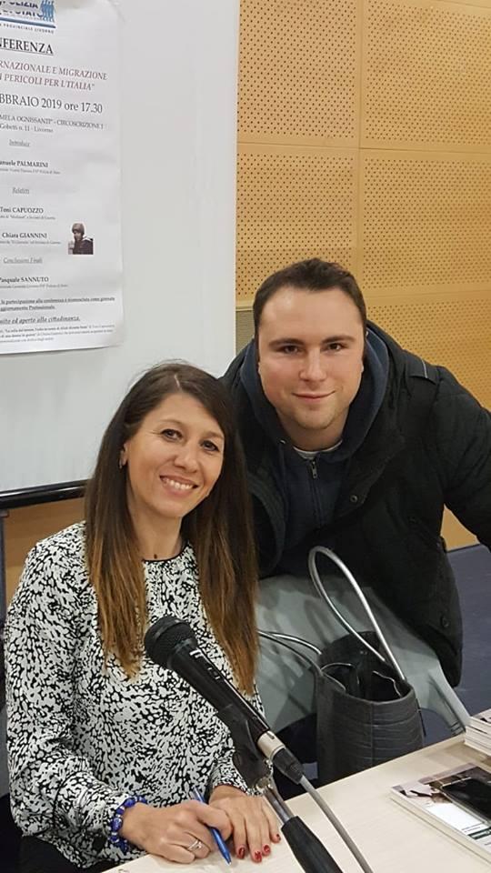 Chiara Giannini e il sottoscritto.