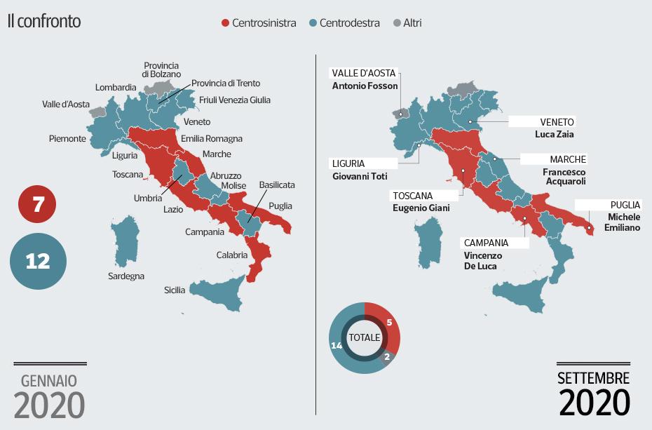 Mappa elettorale tratta dal Corriere della Sera.